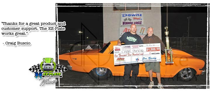 Craig Buscio uses his EZ-Plate System to win!
